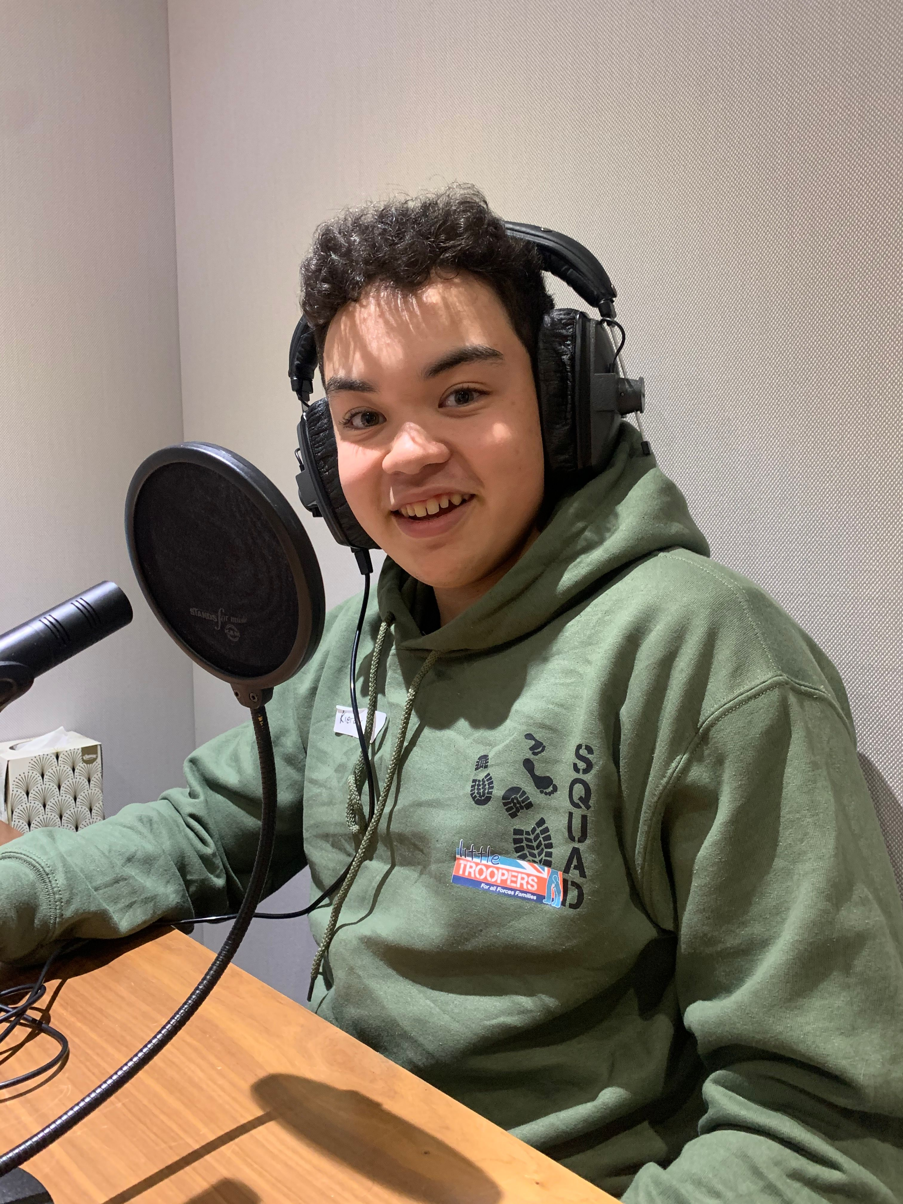 Kieran - a guest on the Little Troopers SQUAD podcast